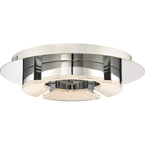 Platinum Collection Lunette 12-Inch Polished Chrome LED Flush Mount