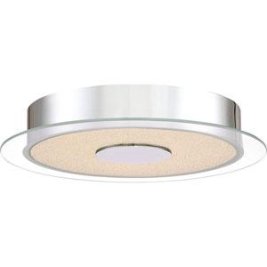 Platinum Collection Moonlit Polished Chrome 14-Inch LED Flush Mount