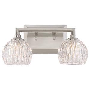 Platinum Collection Serena Brushed Nickel Two-Light LED Vanity