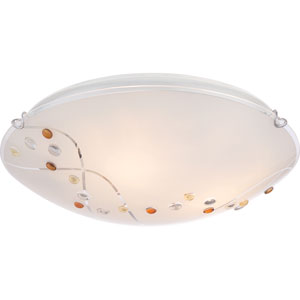 Platinum Collection Stellar Polished Chrome Three-Light Flush Mount