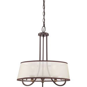 Palmer Palladian Bronze Three Light Pendant