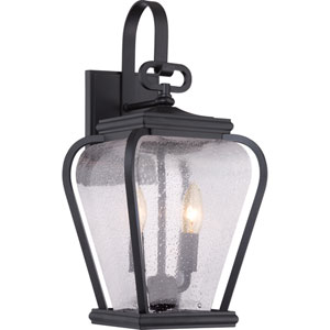 Province Mystic Black Eight-Inch Outdoor Wall Sconce