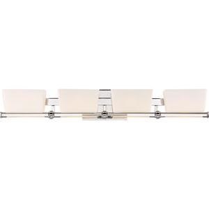 Passage Polished Chrome 32-Inch Four-Light Bath Light