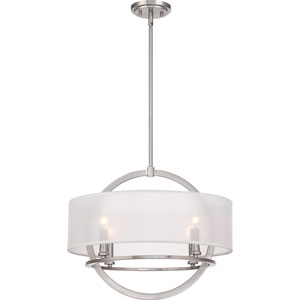 Portland Brushed Nickel Four Light Pendant