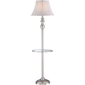 Brushed Nickel One-Light Floor Lamp