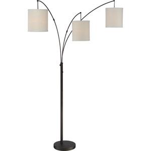 Quoizel Portable Lamp Oil Rubbed Bronze Three-Light Floor Lamp