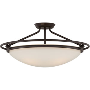 Fixture Western Bronze Four-Light Semi-Flush Fixture