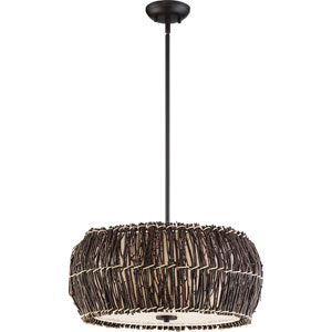 Retreat Dark Cherry 22-Inch Four-Light Pendant