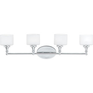 Quinton Polished Chrome Four-Light LED Vanity