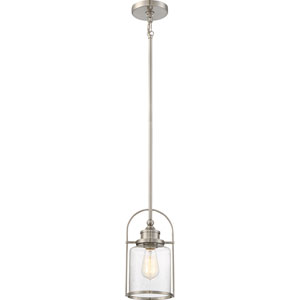 Payson Brushed Nickel 7-Inch One-Light Mini Pendant