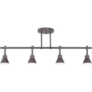 Track Lights Bronze Four-Light Ceiling Track Light