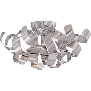 Ribbons Polished Chrome Sixteen-Inch Flushmount