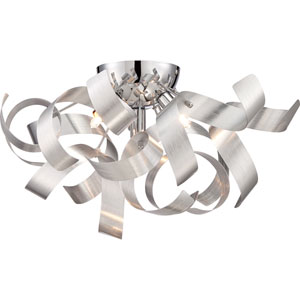 Ribbons Millenia Four Light Flush Mount