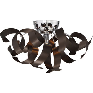 Ribbons Western Bronze 16.5-Inch Four-Light Flush Mount
