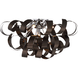 Savoy House Nouvel Bronze Four Light Semi Flush 6 2504 4