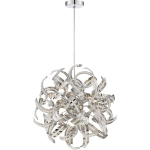 Ribbons Crystal Chrome 17-Inch Five-Light Pendant