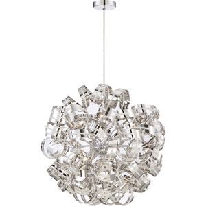Ribbons Crystal Chrome 31-Inch Twelve-Light Pendant