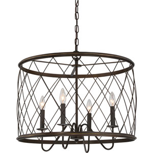 Dury Palladian Bronze 23-Inch Four-Light Pendant