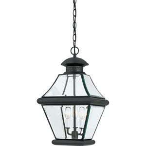 Rutledge Mystic Black Three-Light Outdoor Pendant