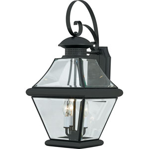 Rutledge Mystic Black Three-Light Outdoor Wall Light