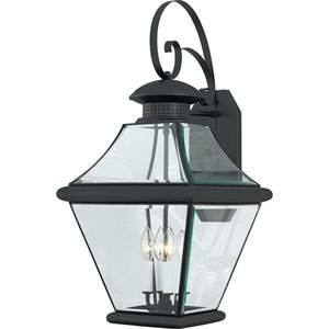 Rutledge Mystic Black Four-Light Outdoor Wall Light