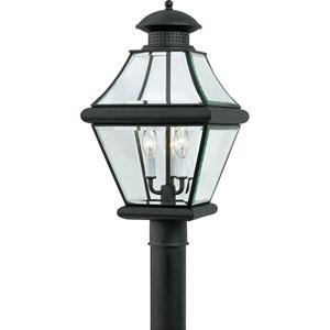 Rutledge Mystic Black Three-Light Outdoor Post Light