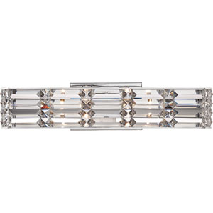 Royale Polished Chrome Four Light Bath Fixtures