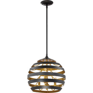Stadium Mystic Black 14-Inch Three-Light Pendant