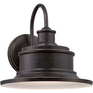 Seaford Imperial Bronze 9-Inch One Light Outdoor Wall Fixture