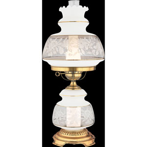 Satin Lace Medium Hurricane Lamp