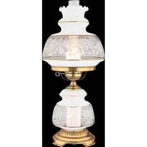 Satin Lace Medium Hurricane Lamp