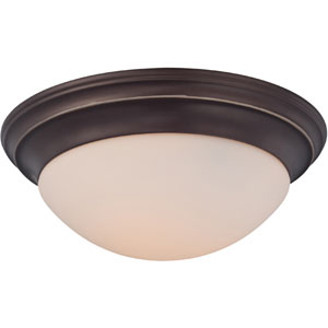 Summit Bronze Three-Light Flush Mount