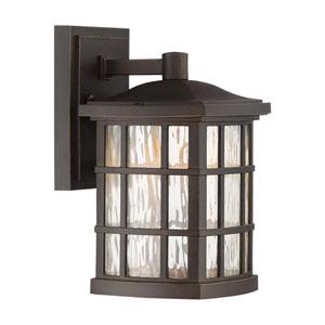 Stonington Palladian Bronze 6.5-Inch Outdoor LED Wall Lantern