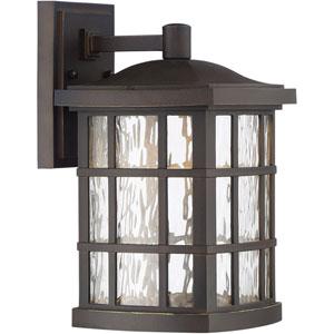 Stonington Palladian Bronze 8-Inch Outdoor LED Wall Lantern