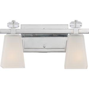 Supreme Polished Chrome Two-Light Vanity