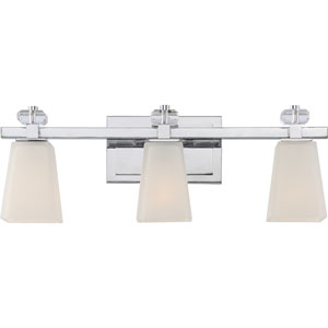 Supreme Polished Chrome Three-Light Vanity