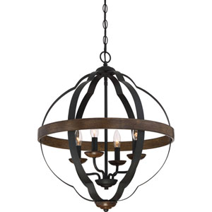 Siren Marcado Black 21-Inch Four-Light Pendant