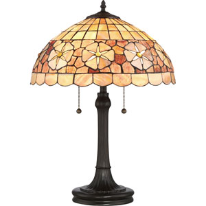 Sea Shell Collection Sanibel Vintage Bronze Two-Light Table Lamp
