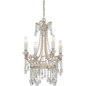 Tricia Vintage Silver Four-Light Chandelier