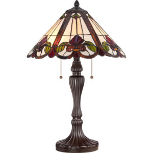 Tiffany Western Bronze 24-Inch Two-Light Table Lamp