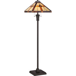 Tiffany Resin 60-Inch Two-Light Floor Lamp