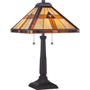 Tiffany Resin 14-Inch Two-Light Table Lamp