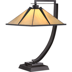 Tiffany Western Bronze One-Light Table Lamp
