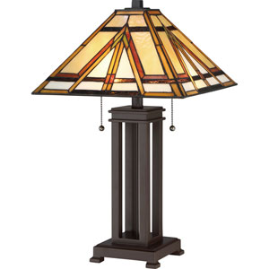 Tiffany Russet Two-Light Table Lamp