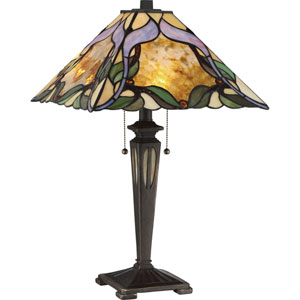 Tiffany Imperial Bronze 22-Inch Two-Light Table Lamp