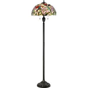Hummingbird Vintage Bronze 18-Inch Two-Light Floor Lamp