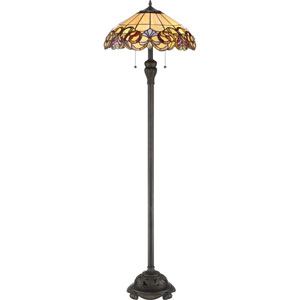 Blossom Imperial Bronze 18-Inch Two-Light Floor Lamp