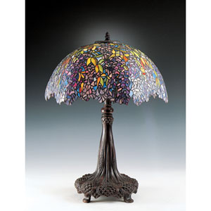 Falling Leaves Tiffany Table Lamp