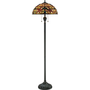 Kami Vintage Bronze Two-Light Floor Lamp