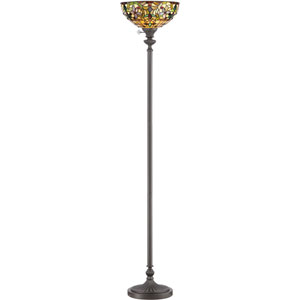 Kami Vintage Bronze One-Light Torchiere